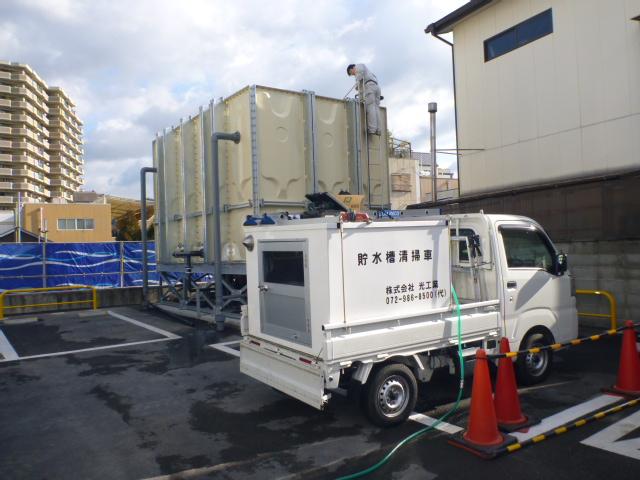 受水槽設置工事|施工手順⑪
