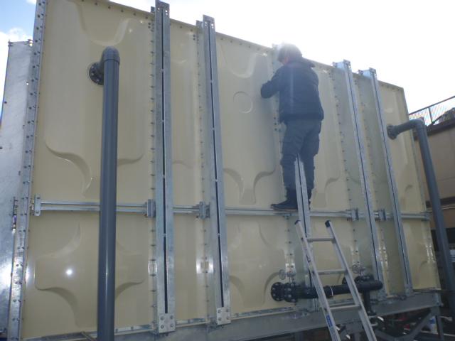 受水槽設置工事|施工手順⑫