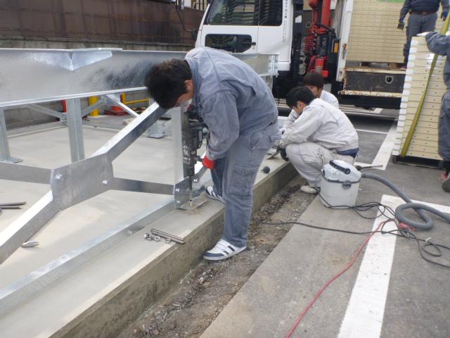 受水槽設置工事|施工手順⑦