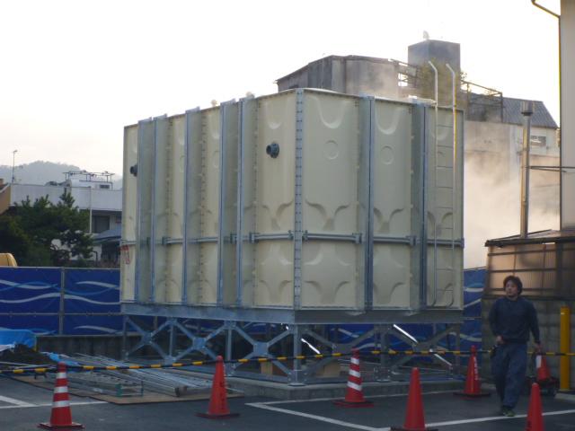 受水槽設置工事|施工手順⑨